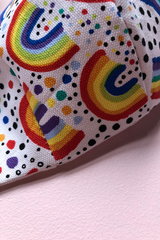 Tailored Fit 3-Layer Cotton Rainbow Print Australian Made Adjustable Reusable Face Mask