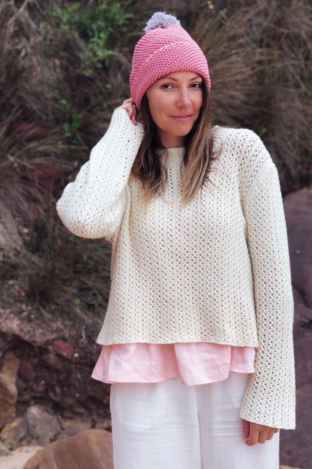 Cream Generations Hand-Knitted Jumper Jumpers The Fashion Advocate ethical Australian fashion designer boutique Melbourne sustainable clothes