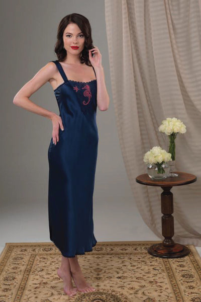 Sea Horse Nightgown Sleepwear The Fashion Advocate ethical Australian fashion designer boutique Melbourne sustainable clothes