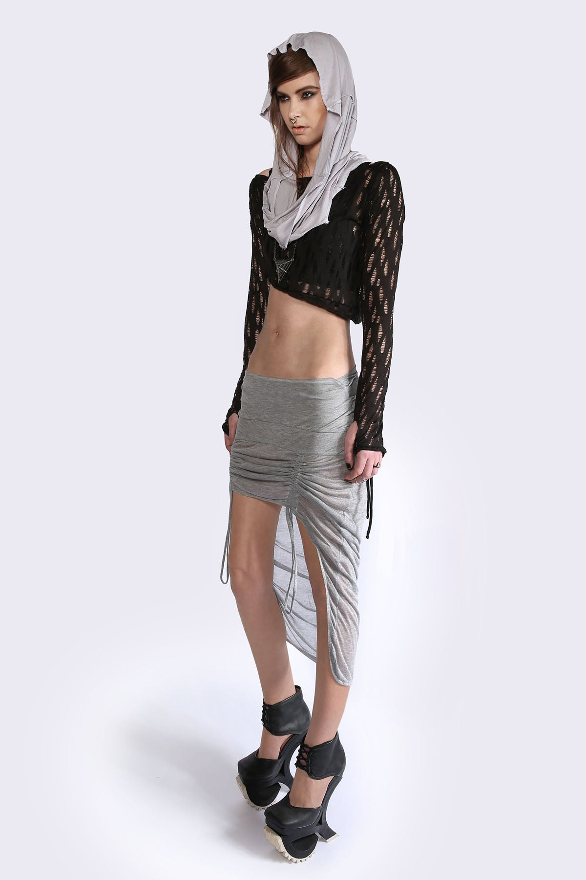 Raised Front Skirt Skirts The Fashion Advocate ethical Australian fashion designer boutique Melbourne sustainable clothes