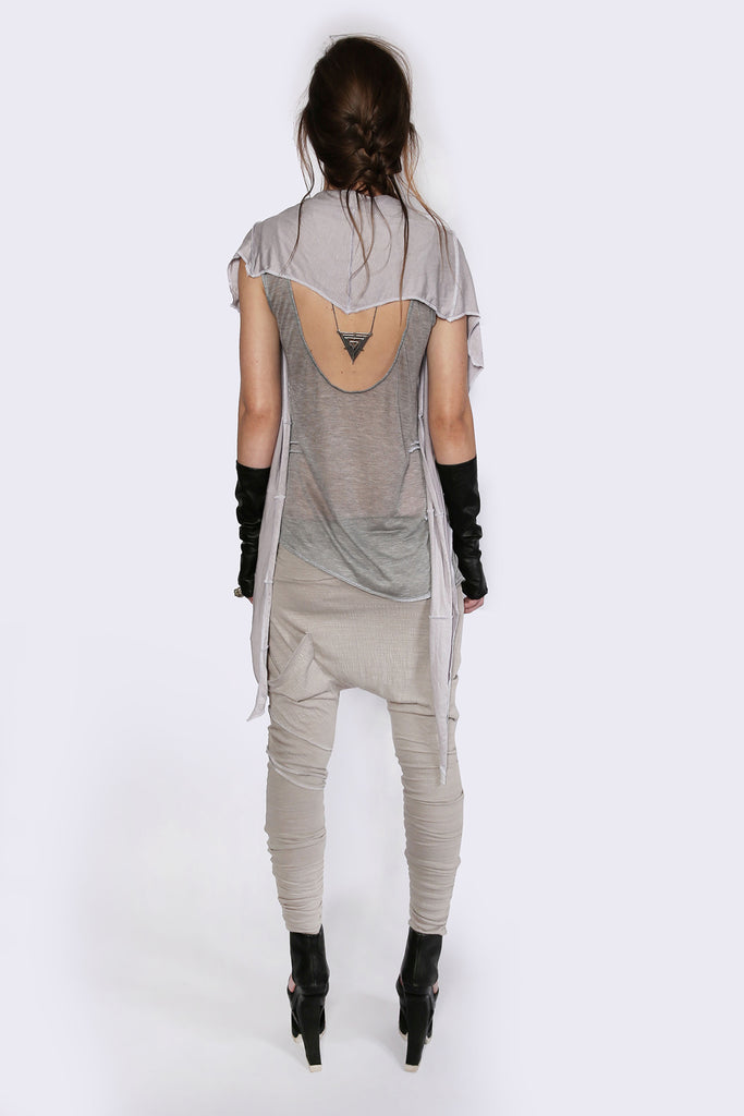 Weightless Grey A-Symmetrical Singlet Shirts + tops The Fashion Advocate ethical Australian fashion designer boutique Melbourne sustainable clothes