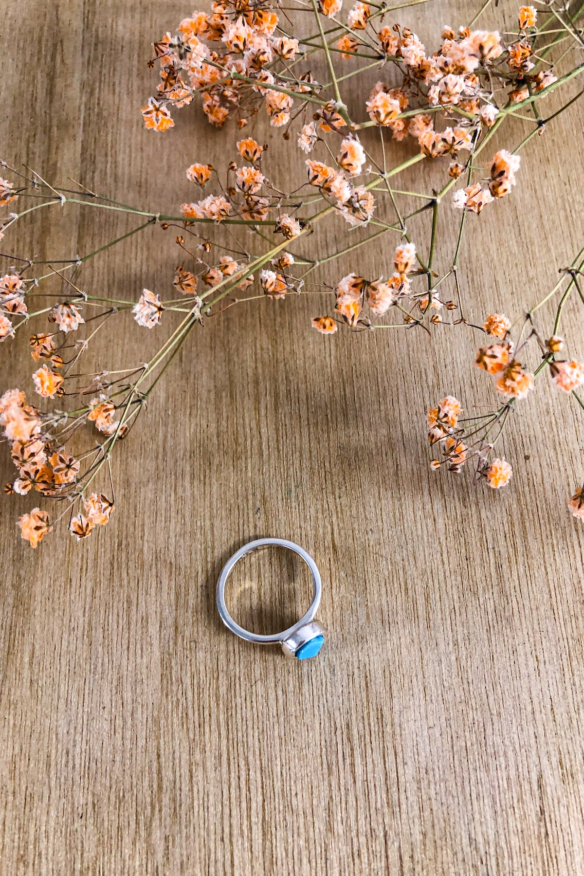 Faceted Turquoise Stack Ring Jewellery Ethical Sustainable Vegan Organic Australian fashion womens clothes