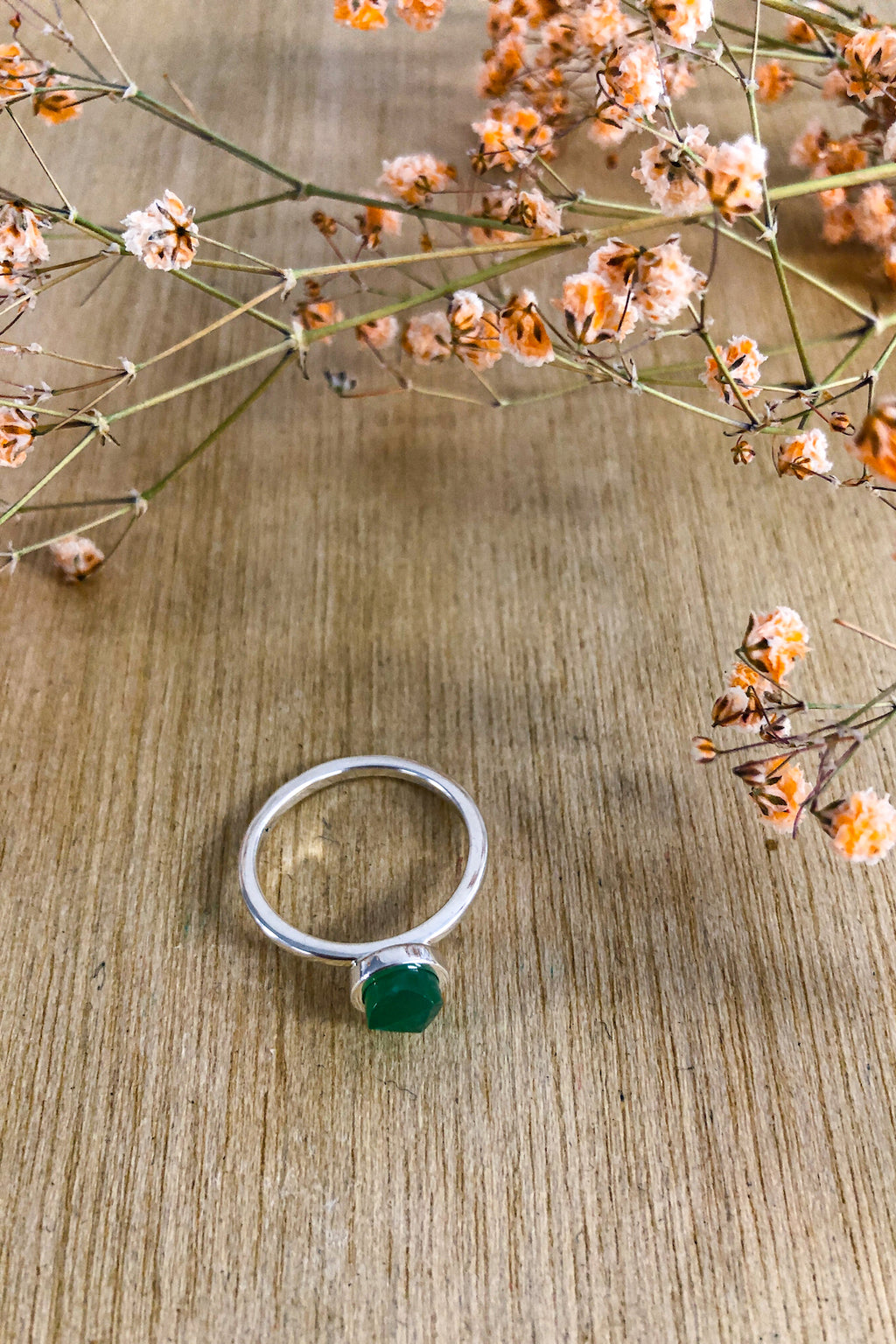 Faceted Chrysoprase Stack Ring Jewellery Ethical Sustainable Vegan Organic Australian fashion womens clothes