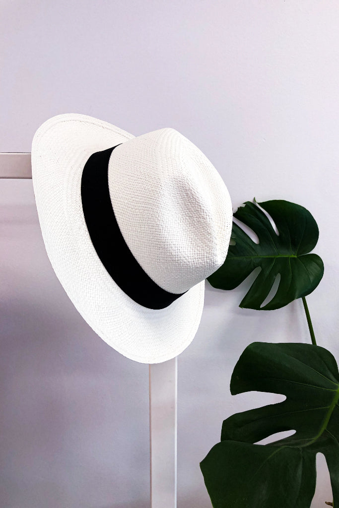 Ivory Fedora Panama Hat Hats The Fashion Advocate ethical Australian fashion designer boutique Melbourne sustainable clothes