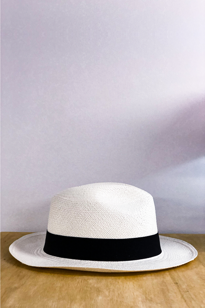 Ivory Fedora Panama Hat Hats Ethical Sustainable Vegan Organic Australian fashion womens clothes