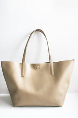 Taupe Traveller Tote Bag Bags + wallets Ethical Sustainable Vegan Organic Australian fashion womens clothes
