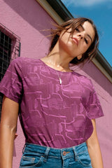 Short Sleeve Blouse Hot Wax Magenta Shirts + tops Ethical Sustainable Vegan Organic Australian fashion womens clothes
