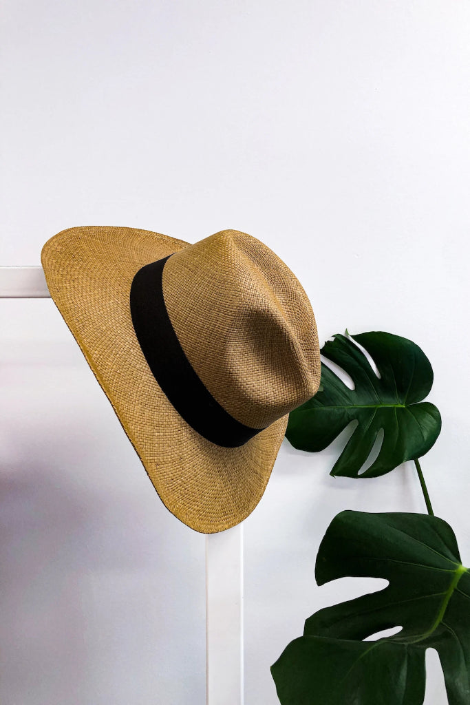 Tobacco Borsalino Panama Hat Hats Ethical Sustainable Vegan Organic Australian fashion womens clothes