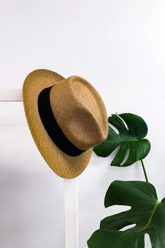 Tobacco Hass Panama Hat Hats The Fashion Advocate ethical Australian fashion designer boutique Melbourne sustainable clothes