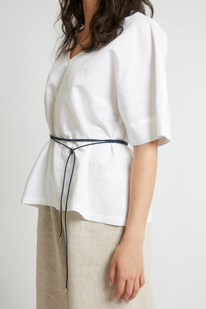 Navy Toggle Belt Belts The Fashion Advocate ethical Australian fashion designer boutique Melbourne sustainable clothes
