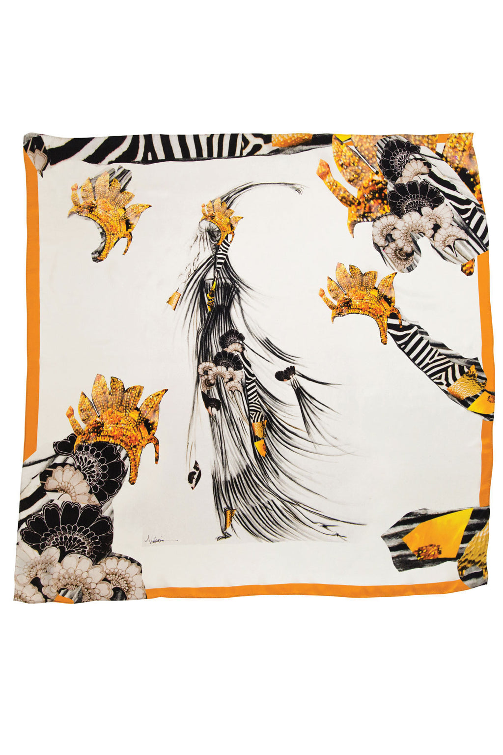 Jungle Queen Square Scarf Scarves The Fashion Advocate ethical Australian fashion designer boutique Melbourne sustainable clothes