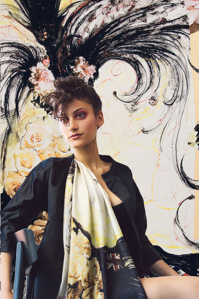 Madama Rosa Square Scarf Scarves The Fashion Advocate ethical Australian fashion designer boutique Melbourne sustainable clothes