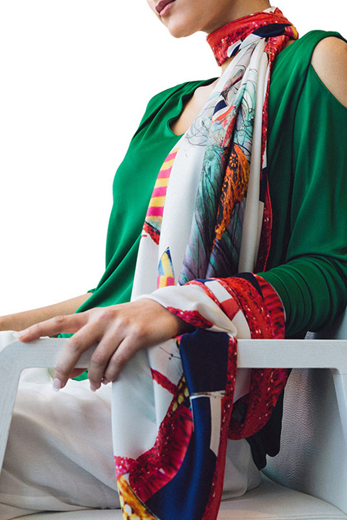 Lady Karolina Square Scarf Scarves The Fashion Advocate ethical Australian fashion designer boutique Melbourne sustainable clothes