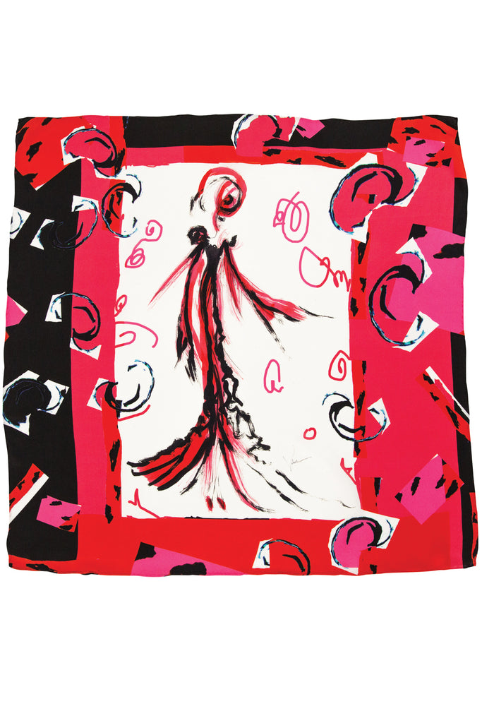 Allegra Silk Satin Scarf Scarves The Fashion Advocate ethical Australian fashion designer boutique Melbourne sustainable clothes