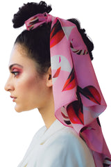 J'Arrive au Printemps Silk Satin Scarf Scarves The Fashion Advocate ethical Australian fashion designer boutique Melbourne sustainable clothes