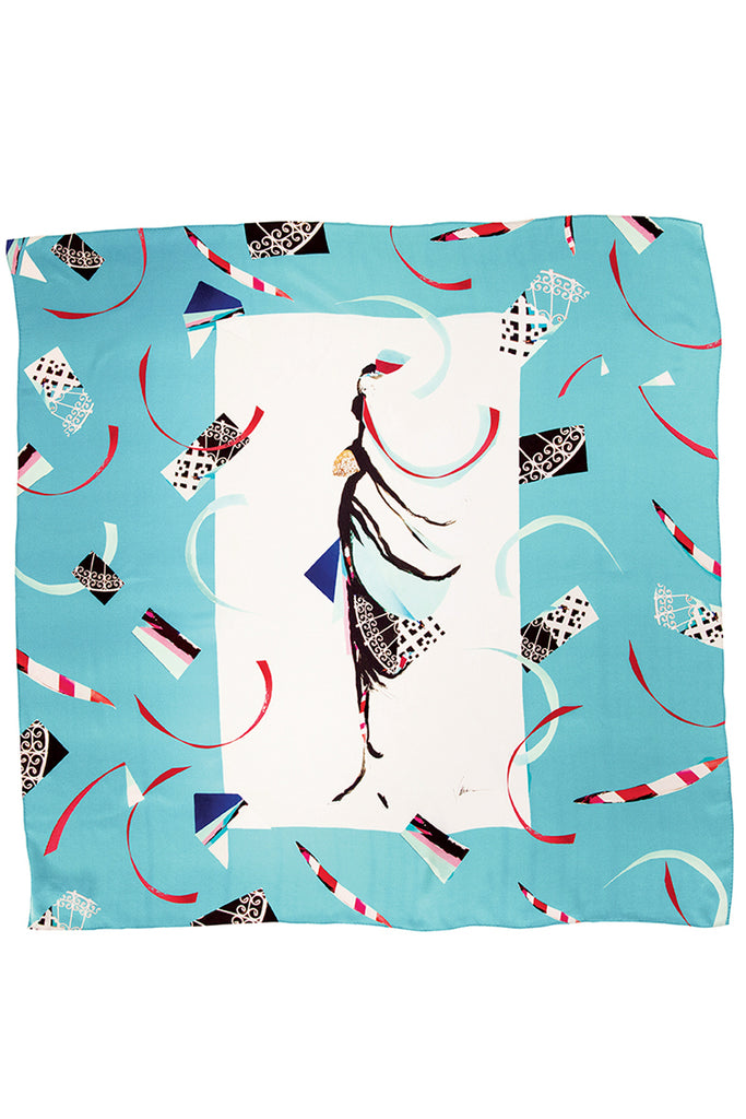 Spirit Dance By The Sea Silk Satin Scarf Scarves The Fashion Advocate ethical Australian fashion designer boutique Melbourne sustainable clothes