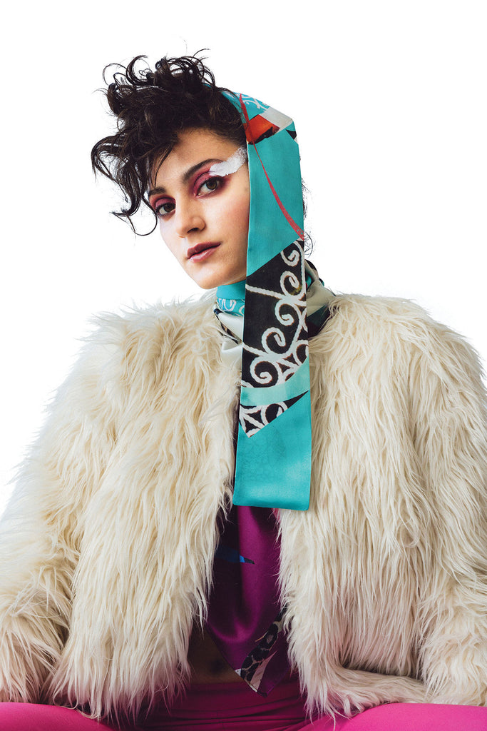 Spirit Dance Carnivalé Skinny Silk Satin Scarf Scarves The Fashion Advocate ethical Australian fashion designer boutique Melbourne sustainable clothes