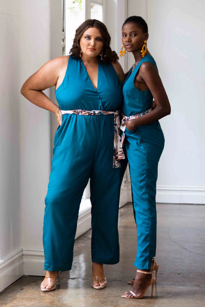 Miami Jumpsuit Teal Jumpsuits + playsuits The Fashion Advocate ethical Australian fashion designer boutique Melbourne sustainable clothes
