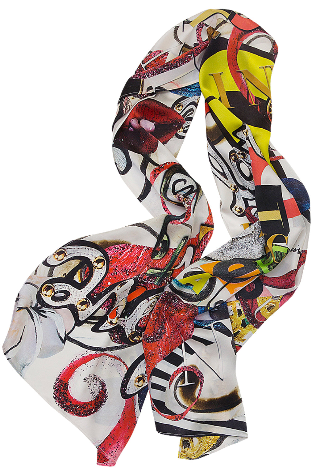 I Love NYC Long Scarf Scarves The Fashion Advocate ethical Australian fashion designer boutique Melbourne sustainable clothes