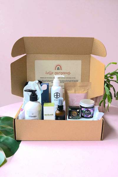 Vegan Beauty Babe Australian Made Beauty Box delivered sustainable gift boxes