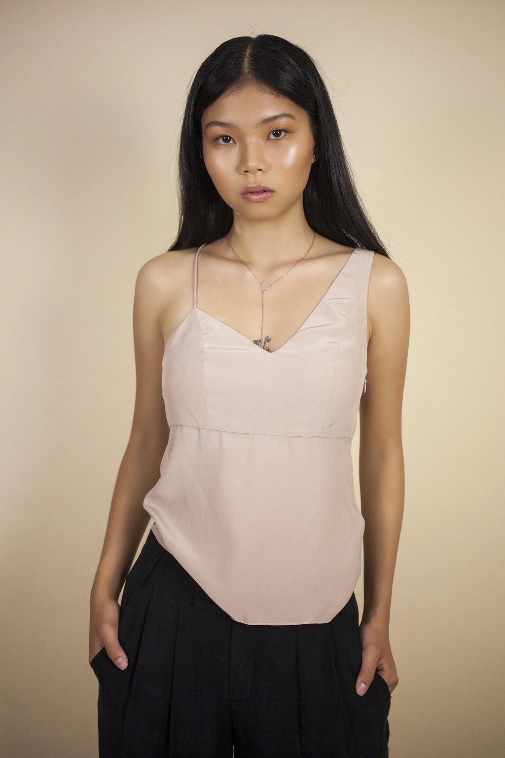 Vizua Cami Shirts + tops The Fashion Advocate ethical Australian fashion designer boutique Melbourne sustainable clothes