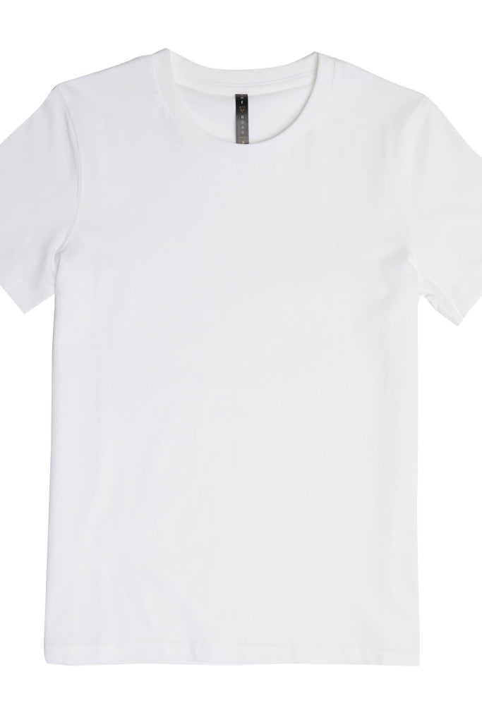 Womens Classico White Tee Shirts + tops Ethical Sustainable Vegan Organic Australian fashion womens clothes