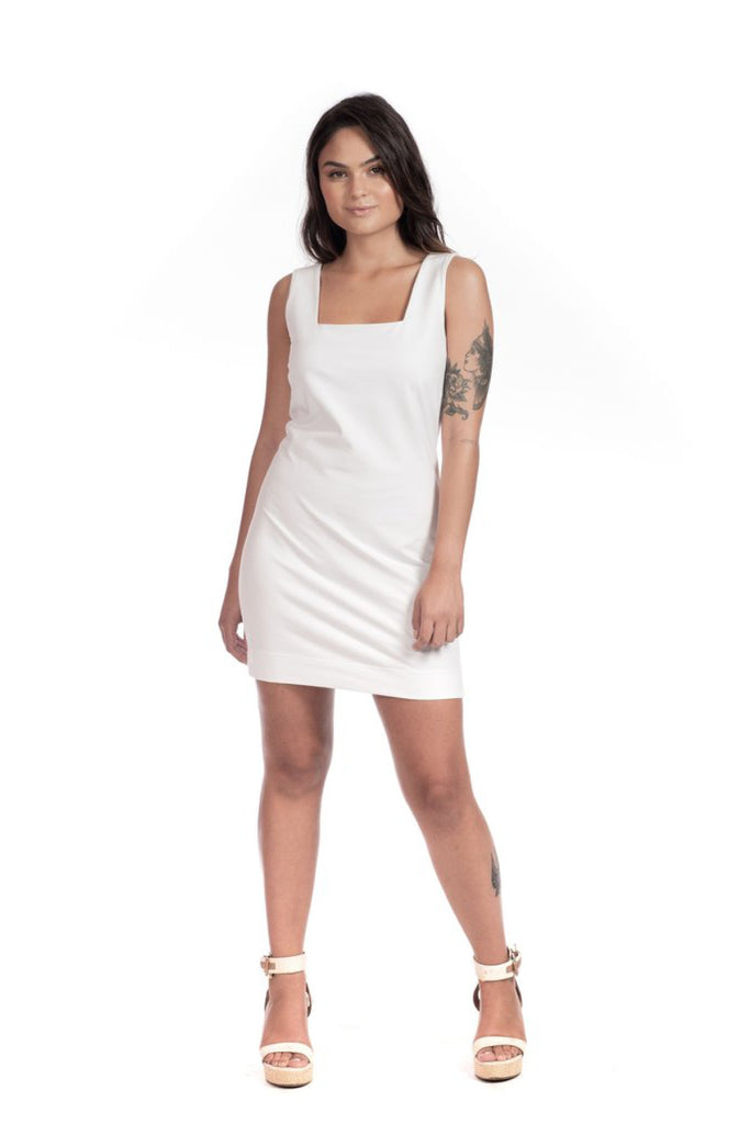 White Alba Dress Dresses Ethical Sustainable Vegan Organic Australian fashion womens clothes