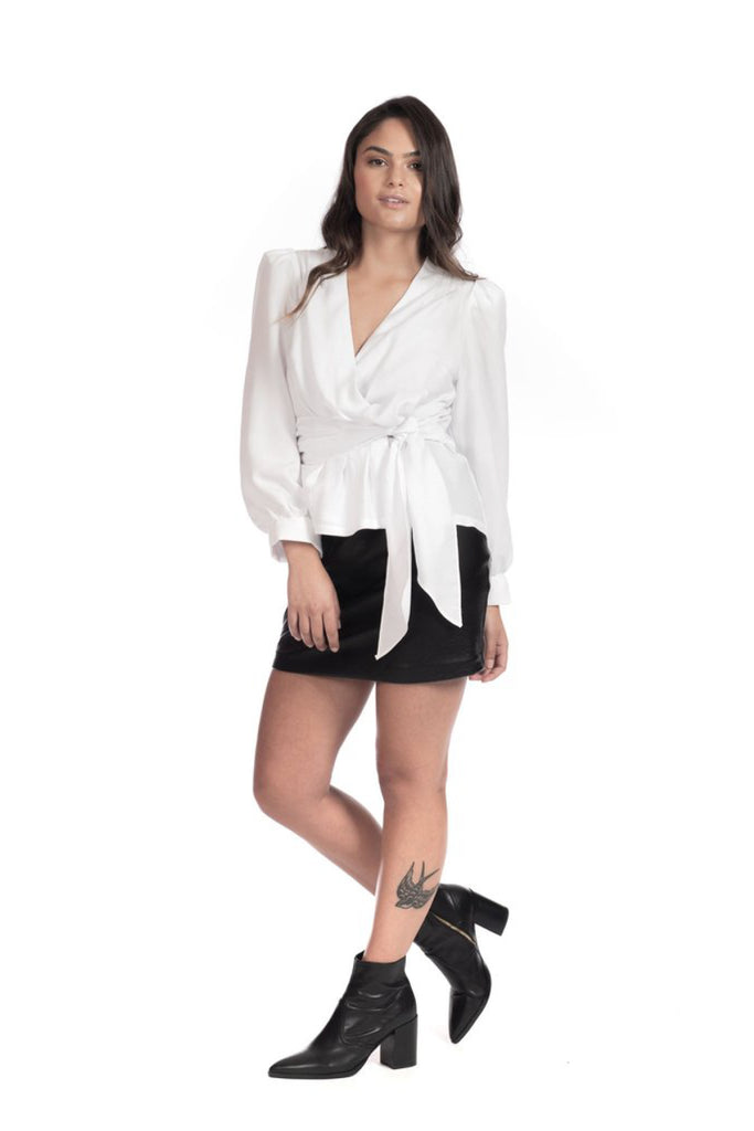 White Stella Top Shirts + tops The Fashion Advocate ethical Australian fashion designer boutique Melbourne sustainable clothes