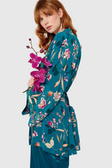 Peacock Bloom Kimono Inspired Jacket Kimonos The Fashion Advocate ethical Australian fashion designer boutique Melbourne sustainable clothes