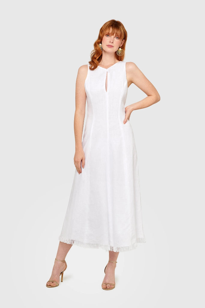 Soiree Linen Dress Dresses Ethical Sustainable Vegan Organic Australian fashion womens clothes