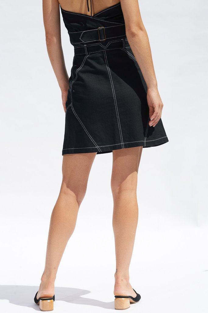 Black Maia Mini Skirt Skirts The Fashion Advocate ethical Australian fashion designer boutique Melbourne sustainable clothes