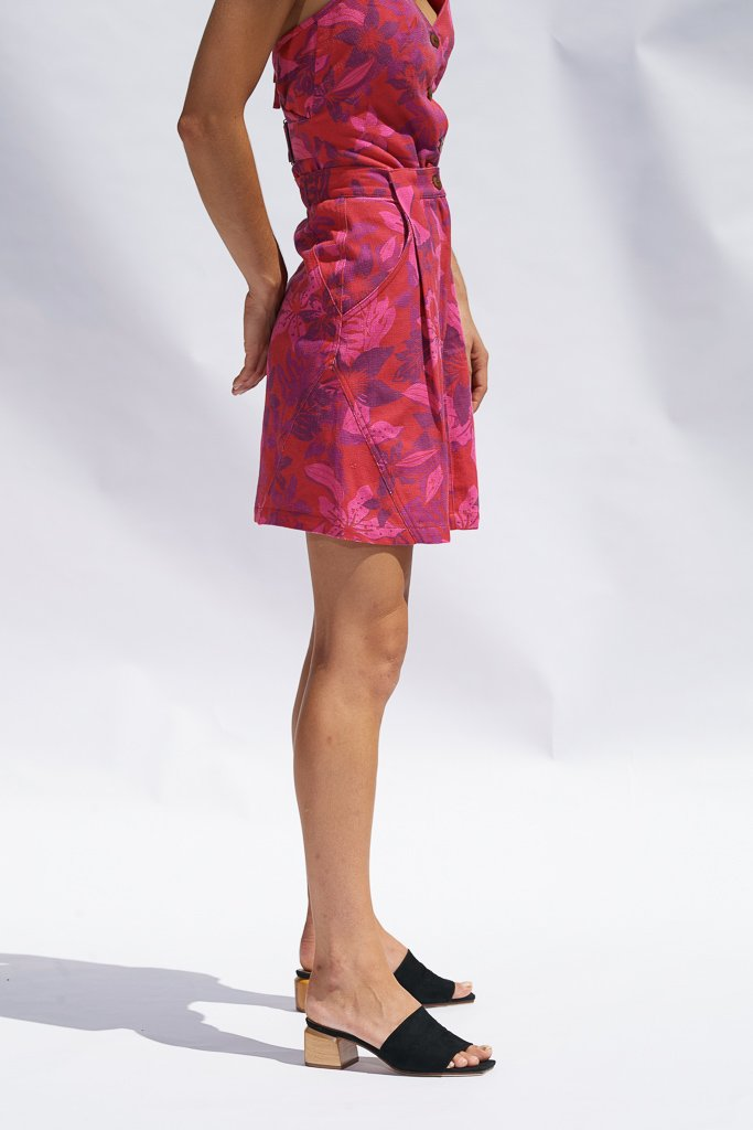 Fuchsia Floral Maia Mini Skirt Skirts The Fashion Advocate ethical Australian fashion designer boutique Melbourne sustainable clothes