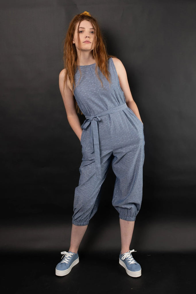 Rehan Embroidered Jumpsuit Jumpsuits + playsuits Ethical Sustainable Vegan Organic Australian fashion womens clothes