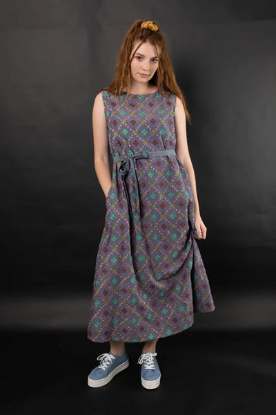 Liana Embroidered Chambray Dress Multi Dresses The Fashion Advocate ethical Australian fashion designer boutique Melbourne sustainable clothes