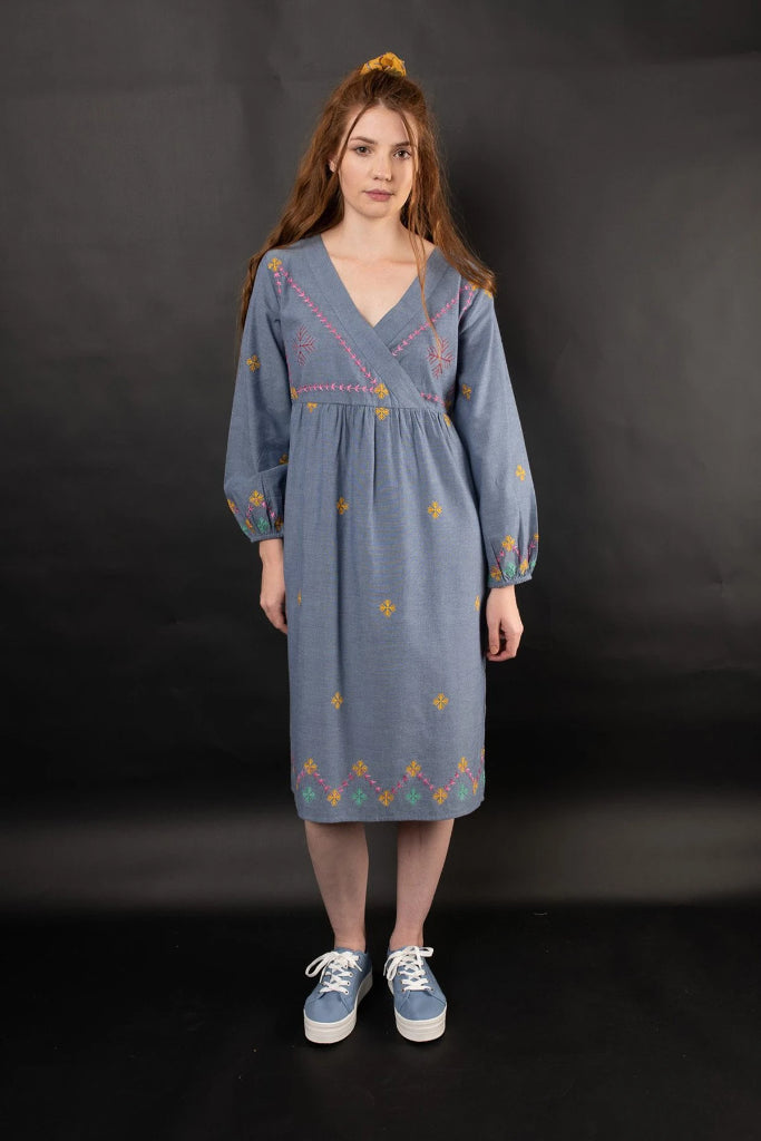 Lara Mock Wrap Dress Dresses The Fashion Advocate ethical Australian fashion designer boutique Melbourne sustainable clothes