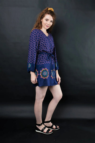 Melika Embroidered Tunic Dresses The Fashion Advocate ethical Australian fashion designer boutique Melbourne sustainable clothes