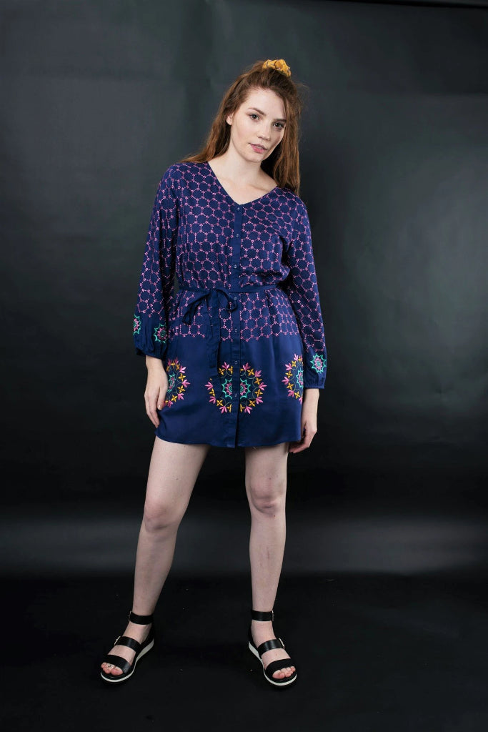 Melika Embroidered Tunic Dresses Ethical Sustainable Vegan Organic Australian fashion womens clothes