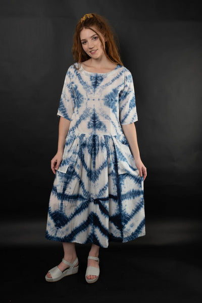 Noreen Shibori Dress Dresses The Fashion Advocate ethical Australian fashion designer boutique Melbourne sustainable clothes