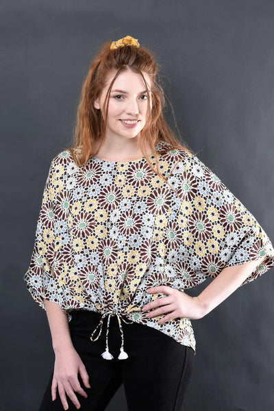 Elektra Modal Printed Top Shirts + tops Ethical Sustainable Vegan Organic Australian fashion womens clothes