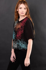 Carmen Floral Embroidered Top Shirts + tops Ethical Sustainable Vegan Organic Australian fashion womens clothes