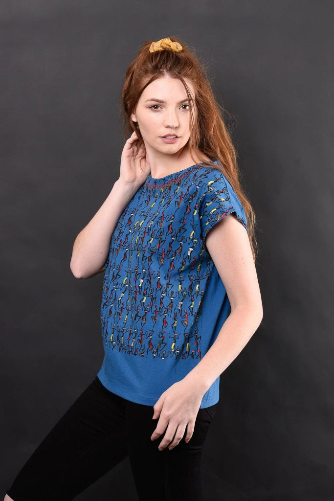 Farica Embroidered Knit Tee Shirts + tops Ethical Sustainable Vegan Organic Australian fashion womens clothes