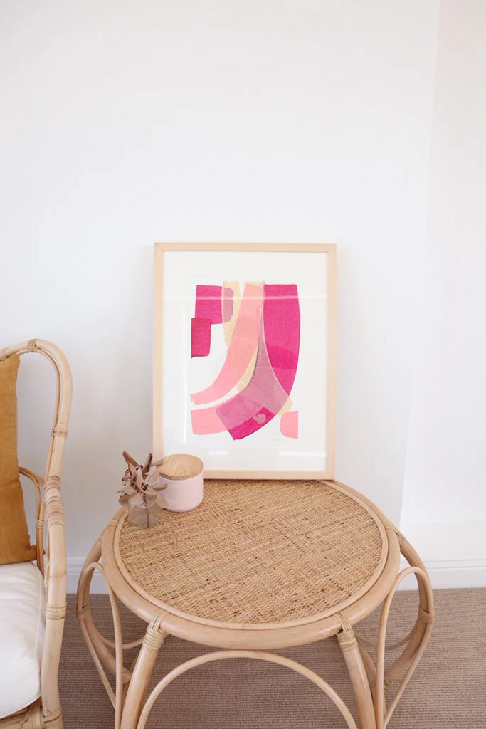 Pink Delight Original Painting Art + prints Ethical Sustainable Vegan Organic Australian fashion womens clothes