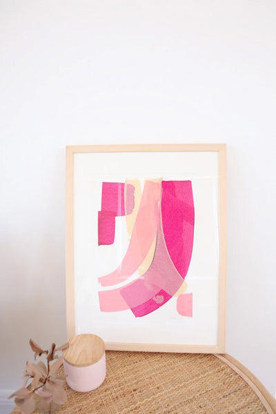 Pink Delight Original Painting Art + prints The Fashion Advocate ethical Australian fashion designer boutique Melbourne sustainable clothes