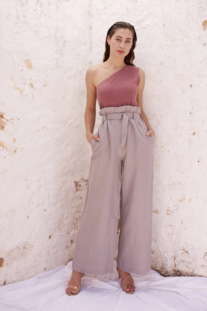 Monika Grey Linen Pant Pants Ethical Sustainable Vegan Organic Australian fashion womens clothes