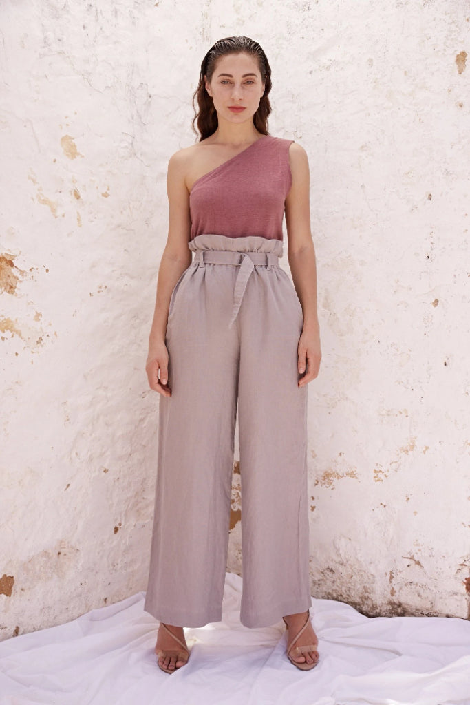 Monika Grey Linen Pant