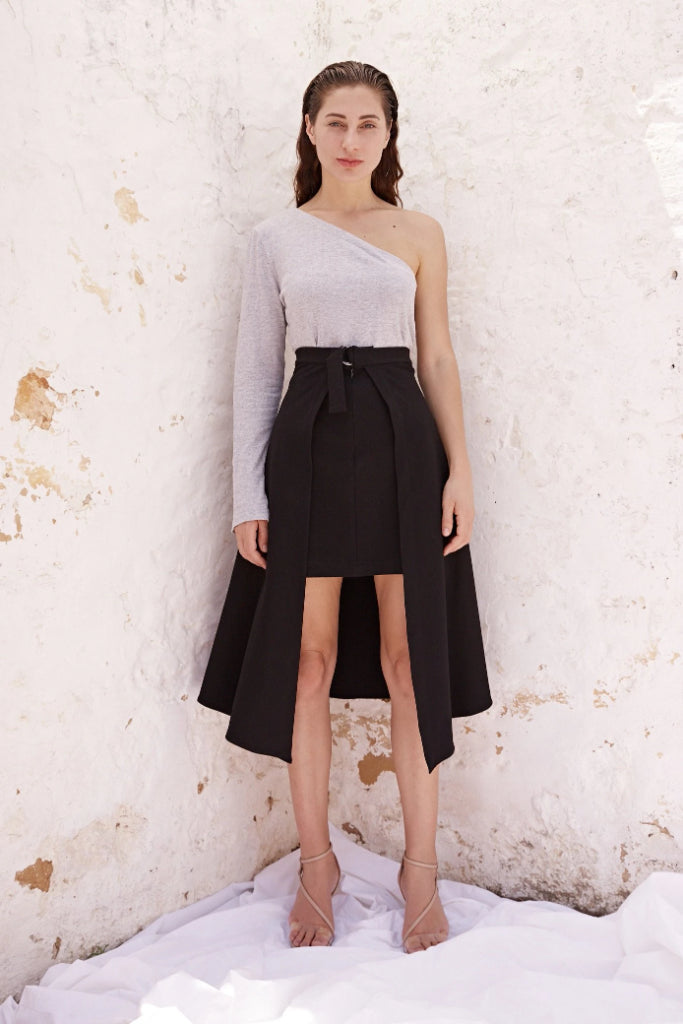 Lydia Two Length Skirt Skirts The Fashion Advocate ethical Australian fashion designer boutique Melbourne sustainable clothes