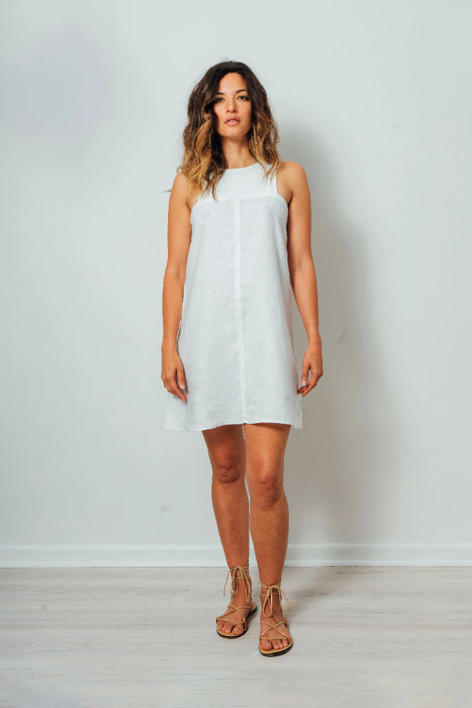 Nickie White Linen Dress