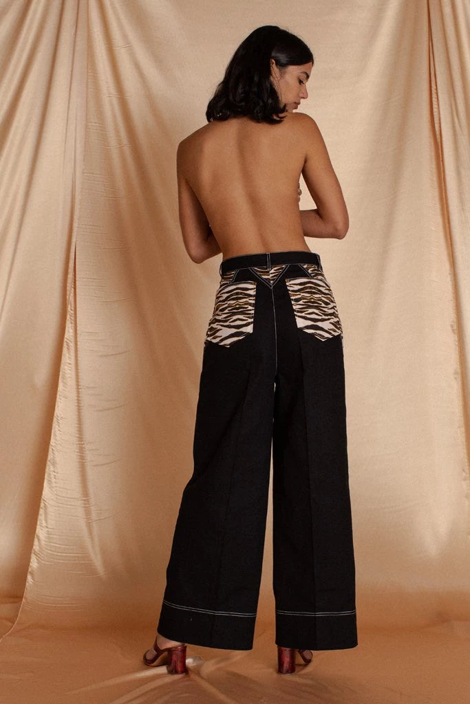 Black Jasper Trouser Pants Ethical Sustainable Vegan Organic Australian fashion womens clothes
