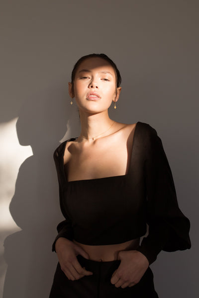 Orphic Crop Shirts + tops The Fashion Advocate ethical Australian fashion designer boutique Melbourne sustainable clothes