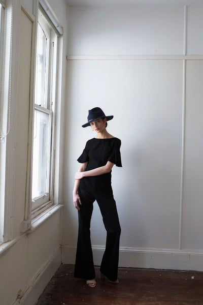Pari Top Full Length Shirts + tops The Fashion Advocate ethical Australian fashion designer boutique Melbourne sustainable clothes